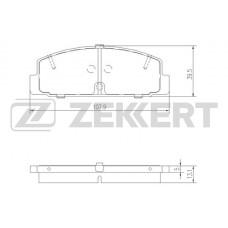 Колодки тормозные задние (Mazda 323, 626, 6)  ZEKKERT BS1100 (GEYC2648Z)